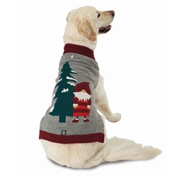Claus's Santa Gnome Sweater in Gray Heather