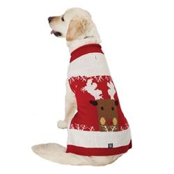 Blitzen's Sparkle Reindeer Sweater in Red