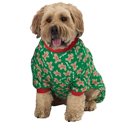 Oh Snap! Gingerbread PJs in Green