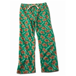 Adult Unisex Oh Snap! Gingerbread Fleece Pajama Bottoms for Humans