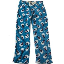 Adult Unisex Snowman Fleece Pajama Bottoms for Humans