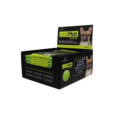 Hyper Pet™ LickiMat™ Soother Dots GREEN SLOW FEEDER ANXIETY BUSTER!