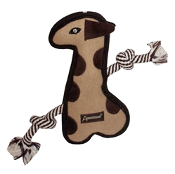 "Aussie Naturals® Tuff Mutts Giraffe Toy 11"" FILLED WITH ALL NATURAL CRUNCHY COCONUT OBER"