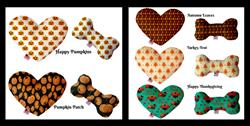 Thanksgiving/Fall/Halloween Collection Heart and Bone Pet Toys