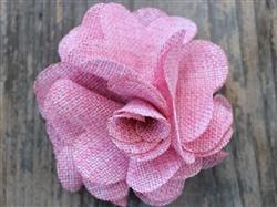 Derby Cherry Blossom Pink Linen Dog Collar Flower