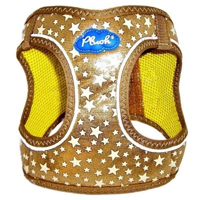 Gold Plush Step In Vest Glitter Glow Harness