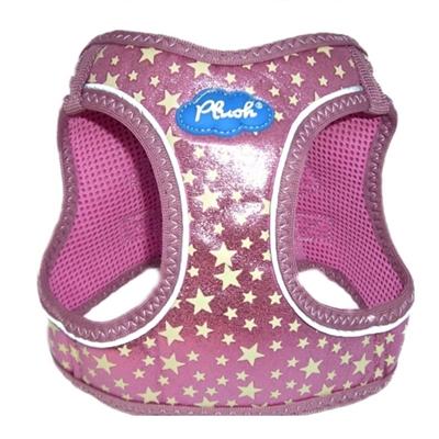 Pink Plush Step In Vest Glitter Glow Harness