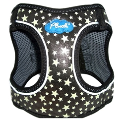 Gunmetal Plush Step In Vest Glitter Glow Harness