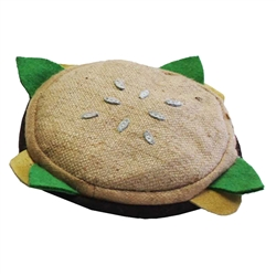 Aussie Naturals® Brunchies Burger Toy W/ SQUEAKER (FILLED WITH NATURAL COCONUT FIBER)