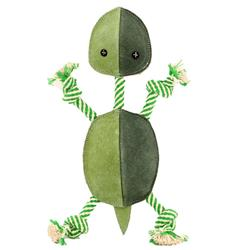 """Aussie Naturals® Wiggly Turtle Dog Toy - Available in Small 11"""" & Large 14"""""""