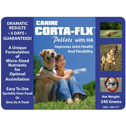 Corta-Flx Canine Pellets 240 gm Hip & Joint Flex Supplement for Dogs