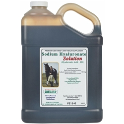 Corta Flx Flex-Force Sodium Hyaluronate Solution Gallon Equine Joint Supplement for Horses