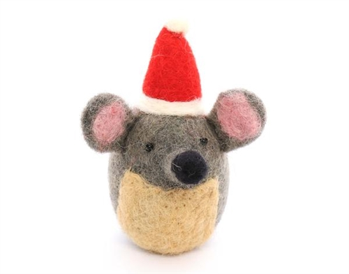 Festive Mouse Holiday Cat Toy