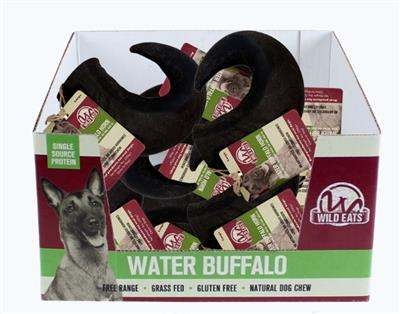 Wild Eats® Large Water Buffalo Horn BEST SELLER! (AVAILABLE IN 12 UNIT PDQ COUNTER DISPLAY #44179)