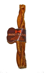 Wild Eats® Water Buffalo Braided Bully Stick - 6""