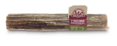 """Wild Eats® Water Buffalo Bully Wrap - 6"""" Gullet filled with pizzle (INDIVIDUALLY WRAPPED)"""