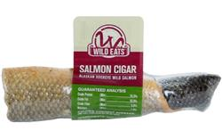"Wild Eats® Wild Alaskan Sockeye Salmon Cigar Bites 2.5"" MADE IN THE USA INDIVIDUALLY WRAPPED"