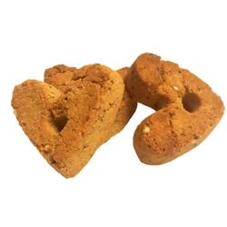Goat Milk Treats with Peanut Flavor GRAIN FREE Hearts - 13 lb case