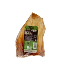 """Outback Jack® Natural Bully 6"""" WATER BUFFALO EAR (CASE OF 48 INDIVIDUALLY WRAPPED)"""