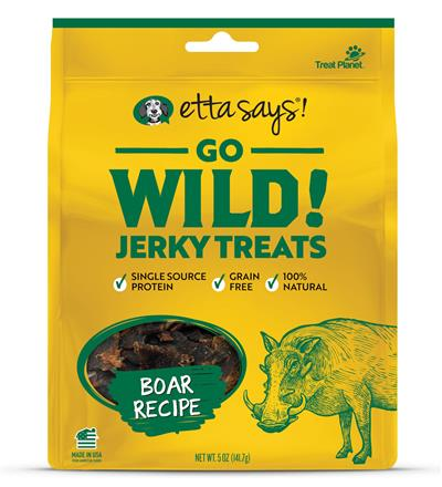 Etta Says Go Wild! Jerky Treats Boar Recipe, wt 5oz