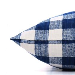 Navy Blue Gingham Check Dog Bed