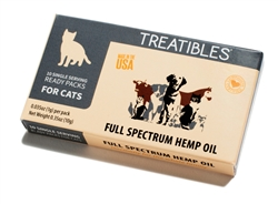 Treatibles Broad Spectrum Hemp Oil Ready Packs for Cats