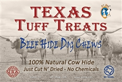 Texas Tuff Treats Beef Hide Dog Chews - Case of 12