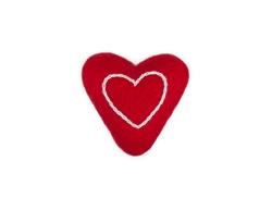 Wooly Wonkz Valentine Toy Lil Heart-Cat