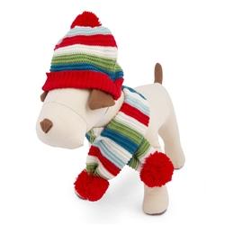Striped Sweater-Knit Hat