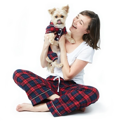 Cozy Flannel Dog Pajamas