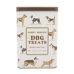 Cross Stitch Dog Biscuit Tin with Peanut Butter Treats