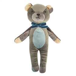 Patchwork Bear Plush Dog Toy