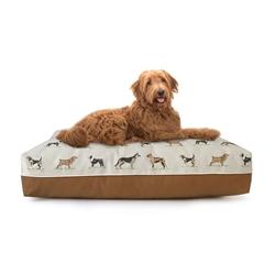 Cross Stitch Rectangle Dog Bed