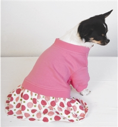 "PINK POLKA DOT DRESS / SIZE SMALL FITS DOGS 10""-14"""