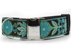 Boho Peacock Extra Wide Dog Collar