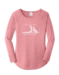 Women's One with Dog Pink Tunic