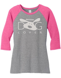 Dog Lover Pink Raglan