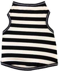 Black and White Stripe  - Tank - Black/White
