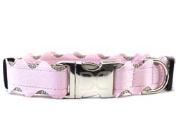Brick-a-Bark Light Pink Collar Silver Buckles