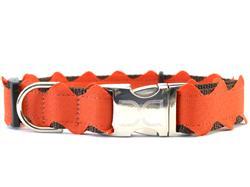 Brick-a-Bark Orange Collar Rose Gold Buckles