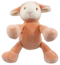 "Simply Fido - Beginnings Lolly 4"" Pink Lamb w/ Squeaker, Delivers February 2019"