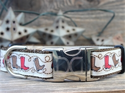 Boots Collar Silver Buckles