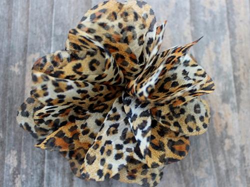 Dirty, Rotten, Cheetah Dog Collar Flower
