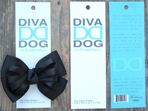 Tuxedo Black Dog Collar Bow