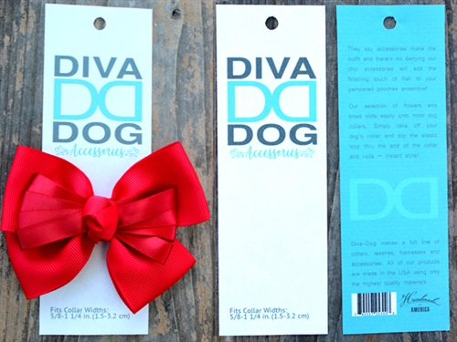 Tuxedo Red Dog Collar Bow