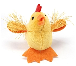 """MultiPet - Look Who's Talking Cat Toys - 1.25"""" Chicken, Delivers February 2019"""