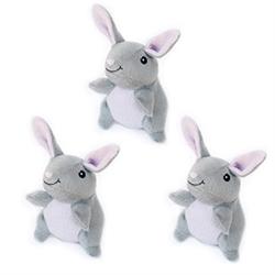 Zippy Paws - Zippy Miniz 3 Pack - Bunnies, Delivers February 2019