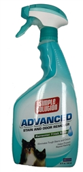 Simple Solution – Advanced Stain and Odor Remover 32oz Spray bottle – Rainwater Fresh Scent