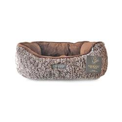 SHAGGY BROWN REVERSIBLE CUDDLER PET BED