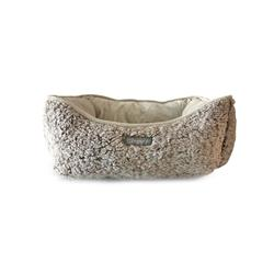 SHAGGY BEIGE REVERSIBLE CUDDLER PET BED